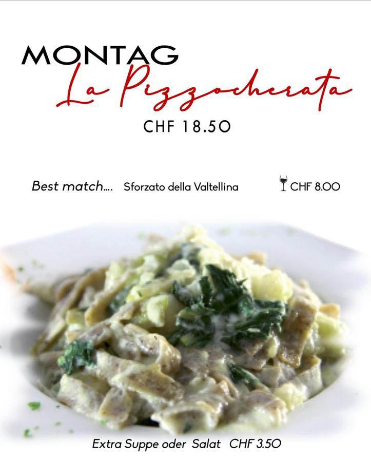 La Stalla Restaurant Pizzeria St. Moritz Tageskarte Montag